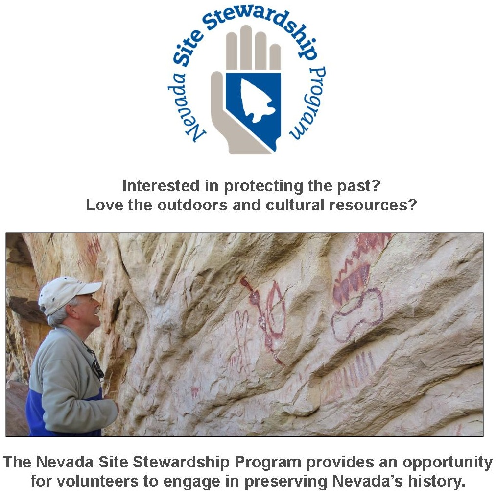NSSP Logo and image of steward looking at pictographs