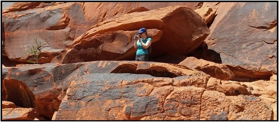 Image of a steward taking photos of a site